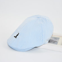 709fa693cd1 Kids Beret Hats Bonnet Boys Girls Summer Soft Cotton Cap High Quality Striped  Beret for Child