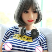 цена на 2017 new 165cm Tall huge breast Japanese metal skeleton real vagina oral adult love doll solid full silicone sex doll for men