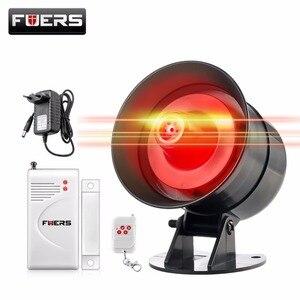 Image 5 - Fuers DIY Wireless 110db Loud Security Siren Rapid Code Strobe Siren Alarm Sound Flash Alarm System For Home Burglar Security