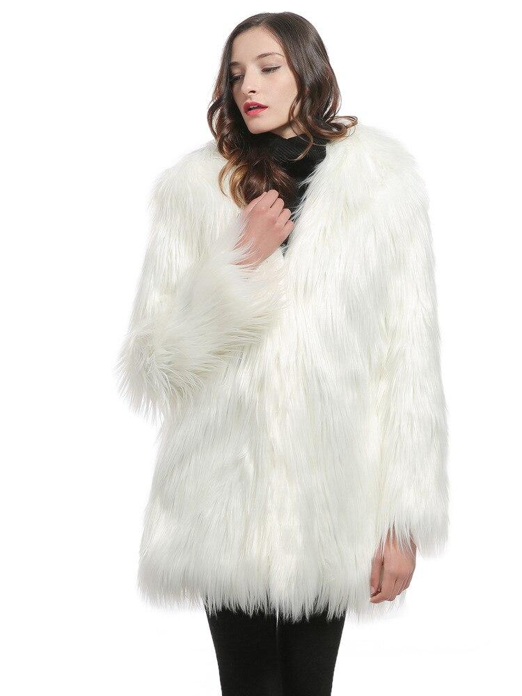 Manteaux Femmes Blanc Blue Moelleux Manches À Taille Damskie La Vestes Plus De Zadorin white black Dames Fourrure Noir Futro 2018 Hiver Manteau gray Longues Faux qw61qFUEWx