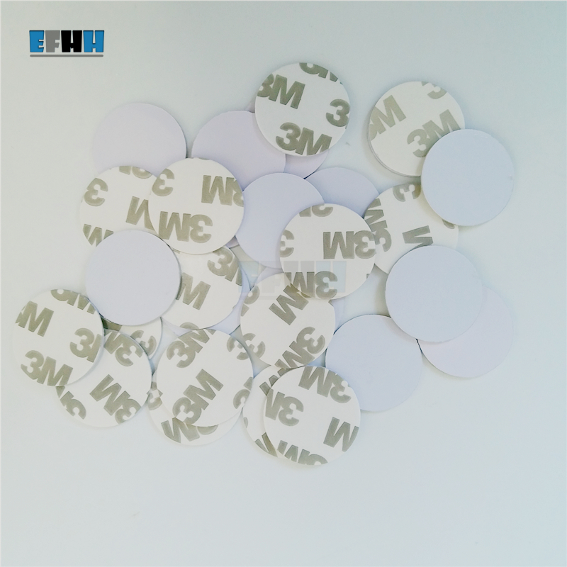 13.5MHZ UID Changeable MF S50 1K 3M Adhensive Sticker Coin NFC Card MF1 S50 Clone Copy Backup Rewritable Chinese Magic Card 5pcs lot 13 5mhz uid changeable mf s50 1k nfc card mf1 s50 clone copy back door rewritable blank rfid card chinese magic card