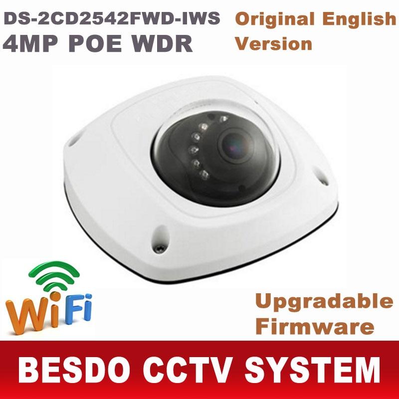 imágenes para Inalámbrica wifi $ NUMBER MP POE IP mini domo Mic incorporado DS-2CD2542FWD-IWS reemplazar DS-2CD2532F-IWS DS-2CD2532F-IS ds-2cd2532f 2cd2532f