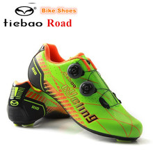 TIEBAO Road Cycling Shoes Carbon Fiber Men zapatillas deportivas mujer Sport Bike Bicycle Sneaker Self-locking Road Bike Shoes