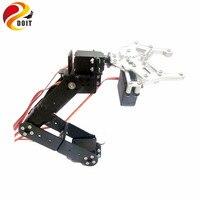 DOIT 5DOF Robot Arm/ A full set of Aluminum Robot Arm Servos Bracket and 1 pcs Metal Mechanical Claw Robot DIY Kit