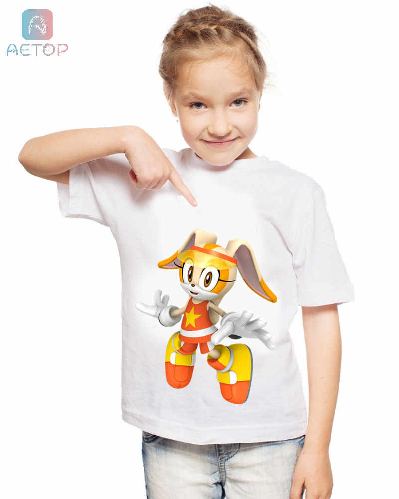 Новая забавная футболка Sonic 026 Kingdom Детская летняя Милая одежда топы для мальчиков и девочек, звуковая футболка