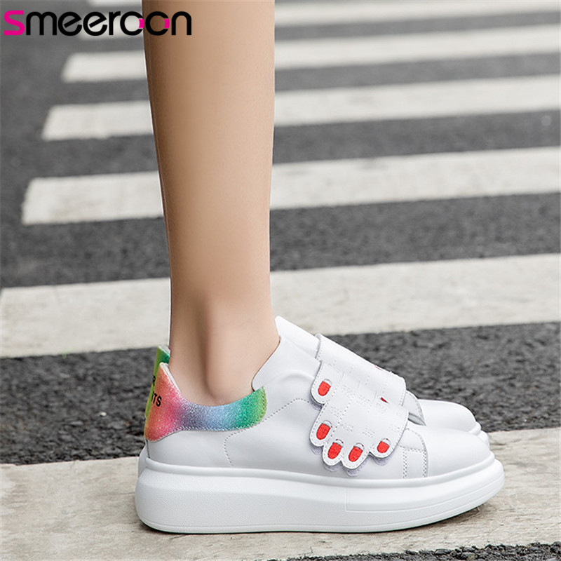 smeeroon 2019 top quality genuine leather shoes women unique mixed colors spring autumn small white shoes female flat sneakerssmeeroon 2019 top quality genuine leather shoes women unique mixed colors spring autumn small white shoes female flat sneakers