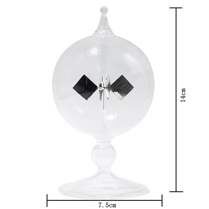 Image 3 - Clear Solar Power Radiometer Sun Light Energy Spinning Vanes Glass Radiometer Science Educational Light Mill-in Electromagnetic Radiation Detectors from Tools
