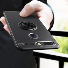 For Xiaomi Mi 8 Lite Case Rotating Magnetic Finger Ring Holder Stand Soft TPU Silicone Matte Back Cover SE cases