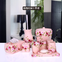 2017 Hot Sale Real Make Life Bathroom Set European Garden With A Tray Of Ten Sets Of High end Washing Gargle Cup Yagang Kit