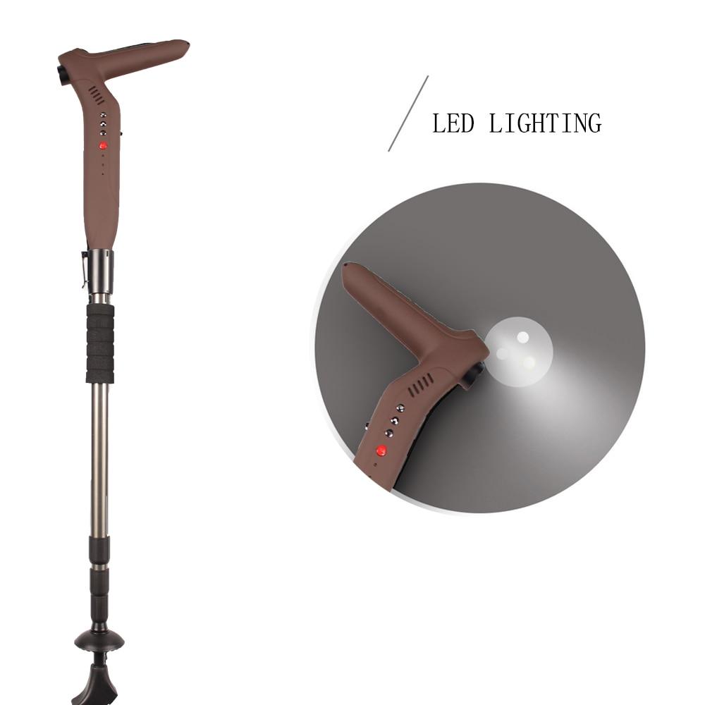 Smart Walking Stick me LED elektrik dore FM Flash Player MP3 GSM - Siguria dhe mbrojtja - Foto 4