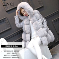 ZNCJ Fox Faux Fur Coat Winter Autumn Women S Newest Brand Sale Outwear High Quality Vest