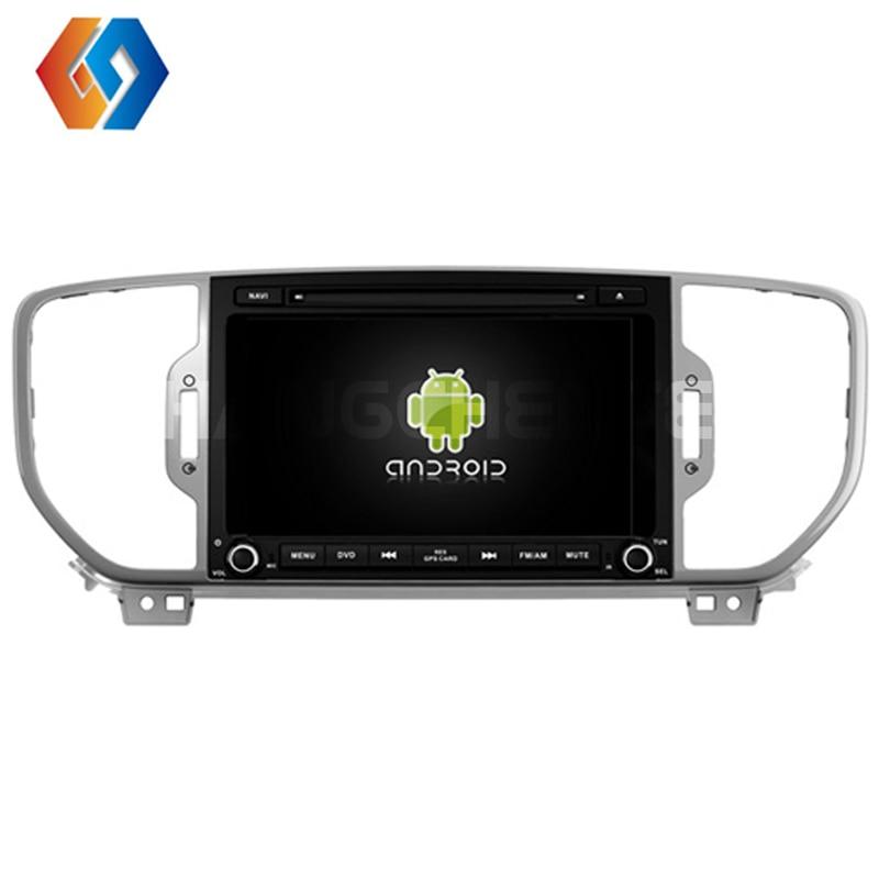 2 Din 8 pouces Android 9 autoradio IPS écran tactile multimédia GPS Navigation pour KIA SPORTAGE 2016 avec Canbus WiFi intégré BT