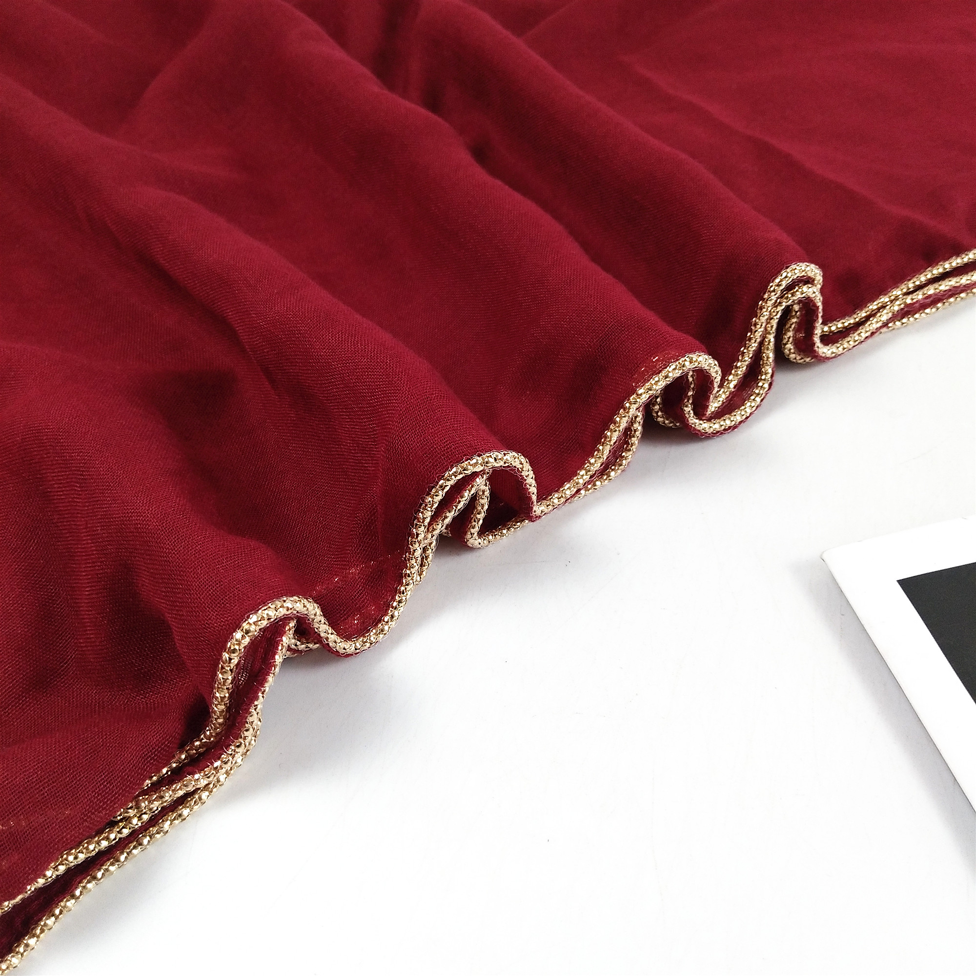 N9 Hot sale Solid hijab scarf gold beads cotton scarves chain plain wraps shawls maxi fashion headband long scarves 180*80cm