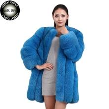 Fashion Fluffy Faux Fur Coat For Women 2018 Western Style Furry Fake Fur Winter Jacket Outerwear Slim Female Warm Overcoat