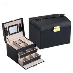 Caixa de embalagem de jóias caixa de caixão para jóias requintado caso de maquiagem jóias organizador recipiente caixas graduação presente de aniversário