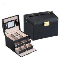 Sieraden Verpakking Box Kist Doos Voor Sieraden Prachtige Make Geval Jewelry Organizer Container Dozen Afstuderen Verjaardagscadeau