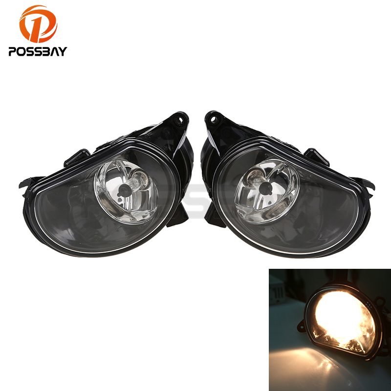 POSSBAY Car Front Bumper Fog Light Fog Lamps For Audi Q7 Typ 4L Pre-facelif 2007-2009 Car-styling Accessories 2 pcs set car styling front bumper light fog lamps for toyota venza 2009 10 11 12 13 14 81210 06052 left right