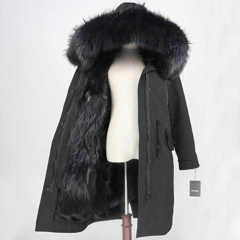 OFTBUY X   long Parka เสื้อกันหนาวกันน้ำเสื้อแจ็คเก็ตสตรีฤดูหนาว Raccoon ขนสัตว์ Hood Fox Fur Liner ขนสัตว์จริงที่ถอดออกได้-ใน ขนสัตว์จริง จาก เสื้อผ้าสตรี บน   2