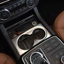 1 pezzo Car Styling Rivestimenti interni di Controllo Centrale Sticker Supporto di Tazza di Acqua Decorazione Per Mercedes Benz ML W166 GLE GL GLS X166