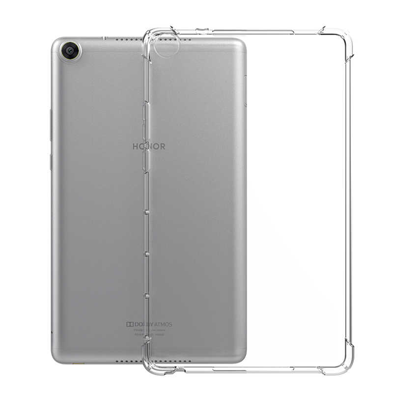 Untuk Huawei Kehormatan Pad 5 10.1 Anti-Crack TPU Soft Case Pelindung, untuk Huawei MediaPad T5 M3 M5 Lite 10.1 Shockproof Silicone Cover