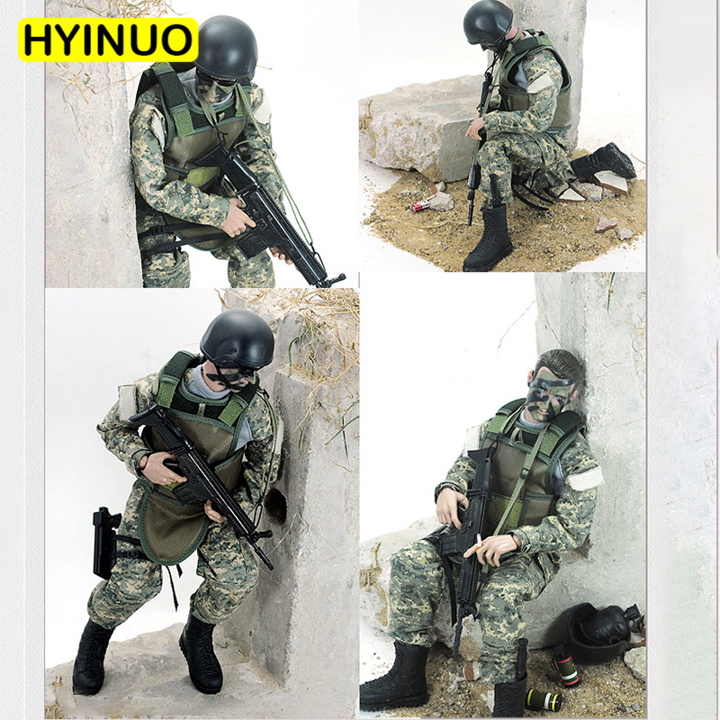 6 Models 1/6 Scale Plastic Camouflage Special forces Toy Gun Military Model Action FigureSet Model 12Full Set Action Figure Toy6 Models 1/6 Scale Plastic Camouflage Special forces Toy Gun Military Model Action FigureSet Model 12Full Set Action Figure Toy