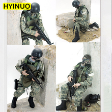 6 Models 1/6 Scale Plastic Camouflage Special forces Toy Gun Military Model Action FigureSet 12Full Set Figure