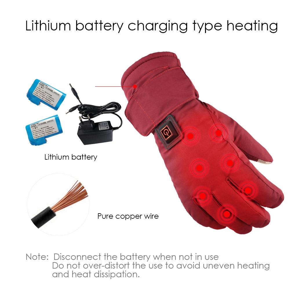Aquecidos elétrica Luvas Luvas Térmicas de Temperatura