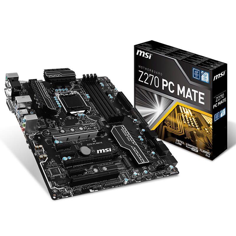 MSI Z270 PC MATE Z270 Computer Motherboard LGA1151 supports I7 7700K