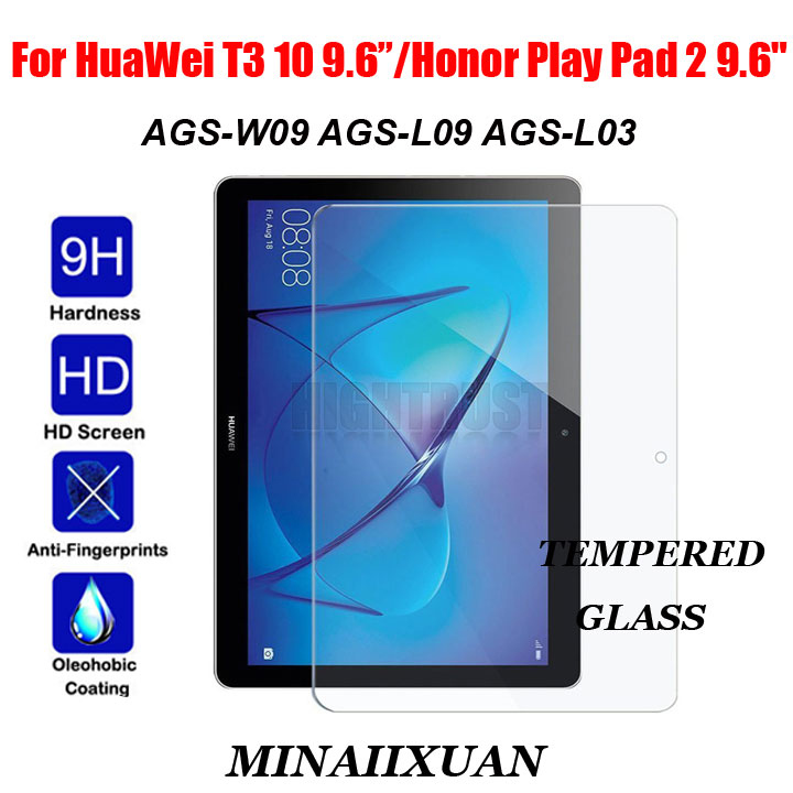 Tempered Glass Screen Protector For Huawei Mediapad T3 10 9.6 Inch AGS-L09/L03/W09 Scratch-Resistant Tablet Protective Film 9h tempered glass for huawei mediapad t3 7 0 8 0 10 0 tablet screen protector for huawei mediapad t3 1087 protective film