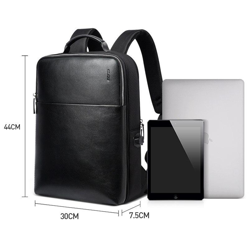 BOPAI grande capacité hommes voyage sacs détachable 15.6 pouces sac à dos pour ordinateur portable avec sac à Main pour hommes d'affaires voyage en cuir sac à dos - 6