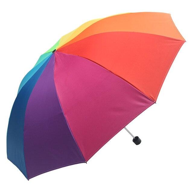Windproof Foldable Rainbow Waterproof Beach Umbrella Automatic Rain Women Large Folding Sun Umbrellas Parasol Umbrela Sunshade