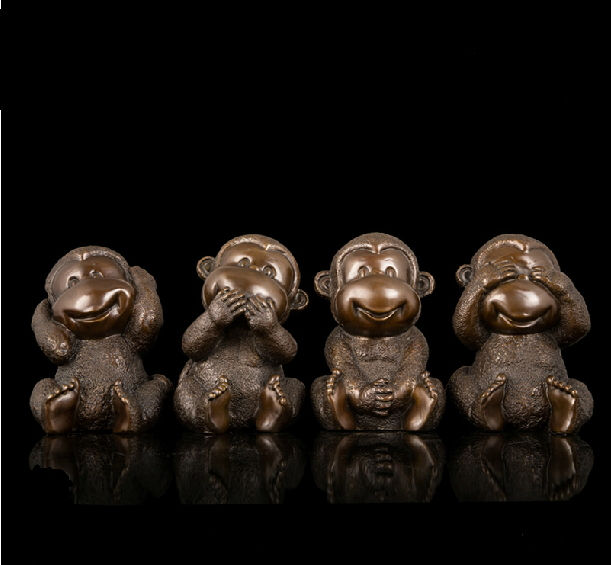 Hot sales Antique bronze monkey statuette Chinese mascot statues fengshui sculpture hd 049 in Statues Sculptures from Home Garden