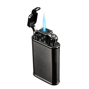 Image 1 - 2019 New Pipe Lighter Torch Turbo Lighter Jet Butane Metal Lighter Cigarette 1300 C Fire Windproof No Gas