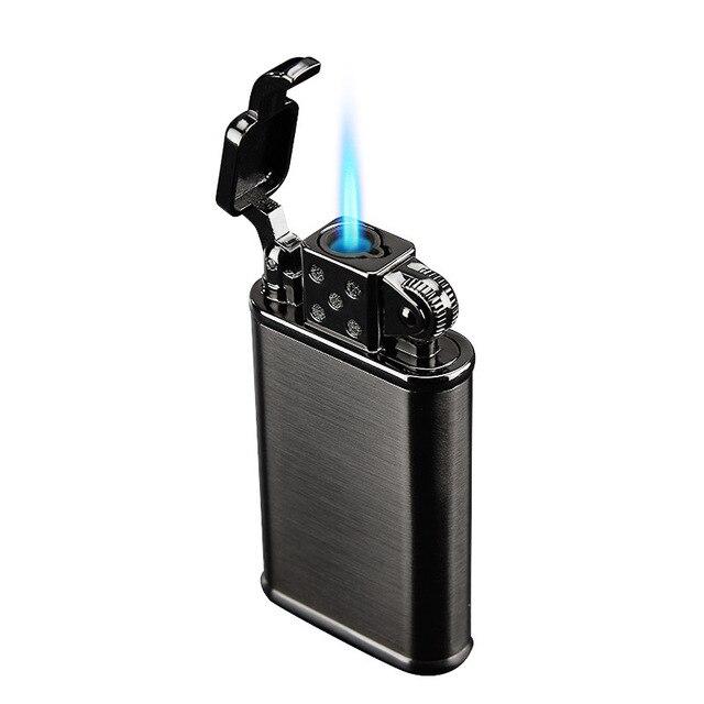 2019 New Pipe Lighter Torch Turbo Lighter Jet Butane Metal Lighter Cigarette 1300 C Fire Windproof No Gas