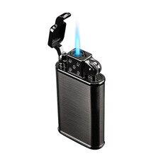 2019 nowa zapalniczka do rur latarka Turbo zapalniczka Jet butan metalowa zapalniczka papieros 1300 C ogień wiatroodporny bez gazu