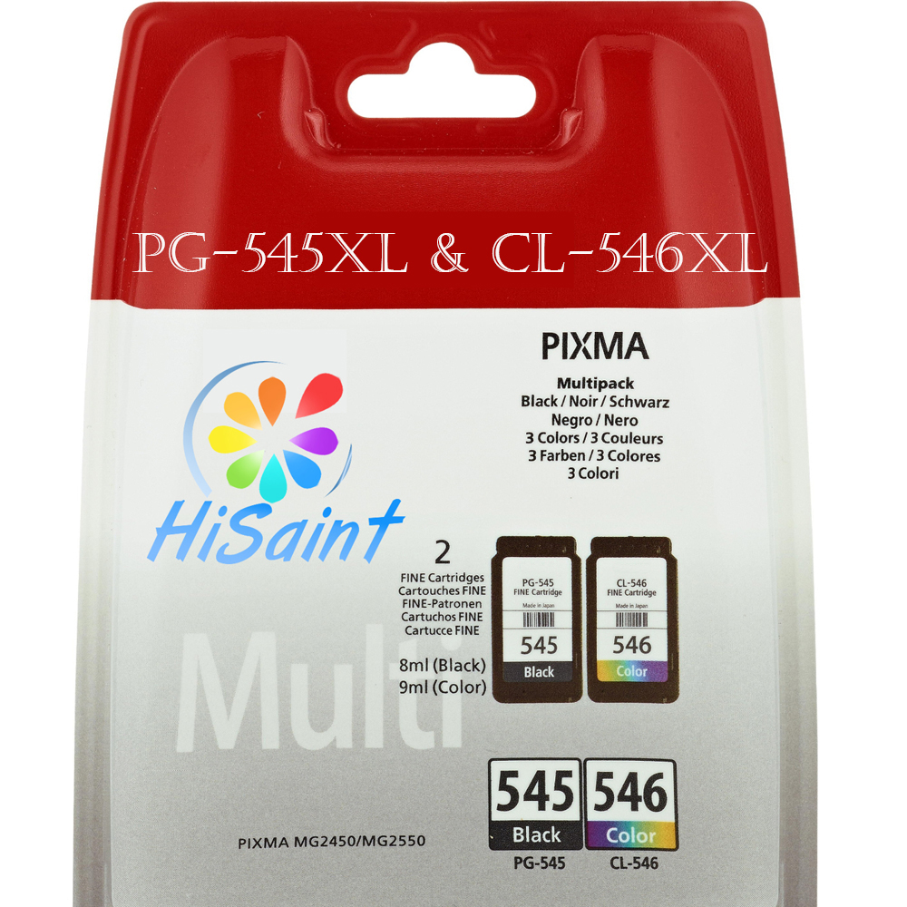 ФОТО Hisaint Listing Best For Canon PG-545XL & CL-546XL Ink Cartridges (High Capacity) Hot For Canon PIXMA MX495 Printers 2PK