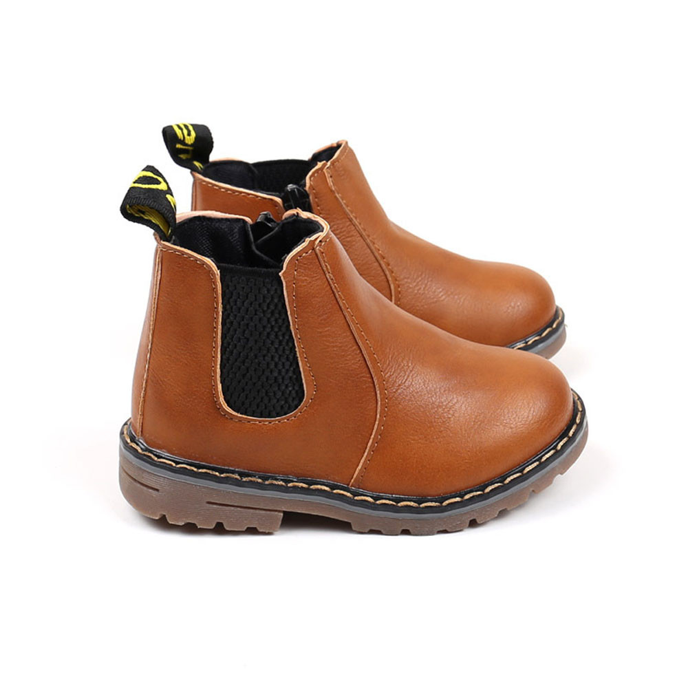 Anti-Slip Design Children Fashion Boys Girls Martin Sneaker Boots Kids Baby Casual Shoes KIDS Winter Pu Leather Boots