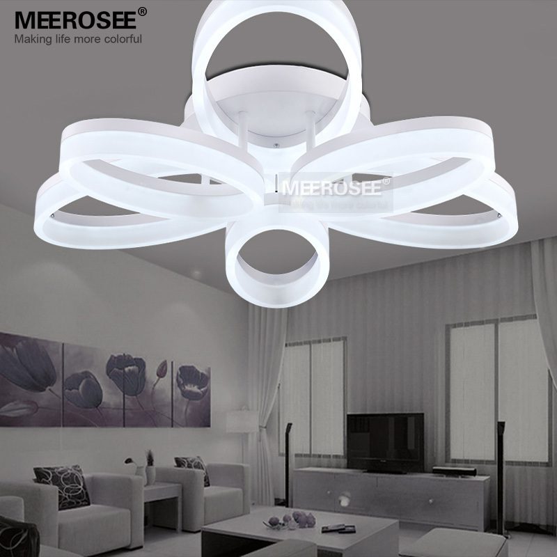 Acrylic Flush Ceiling Lights White Light Frame Home Decorative Lighting Fixtures Oval Led Re Lamp For Living Room In From