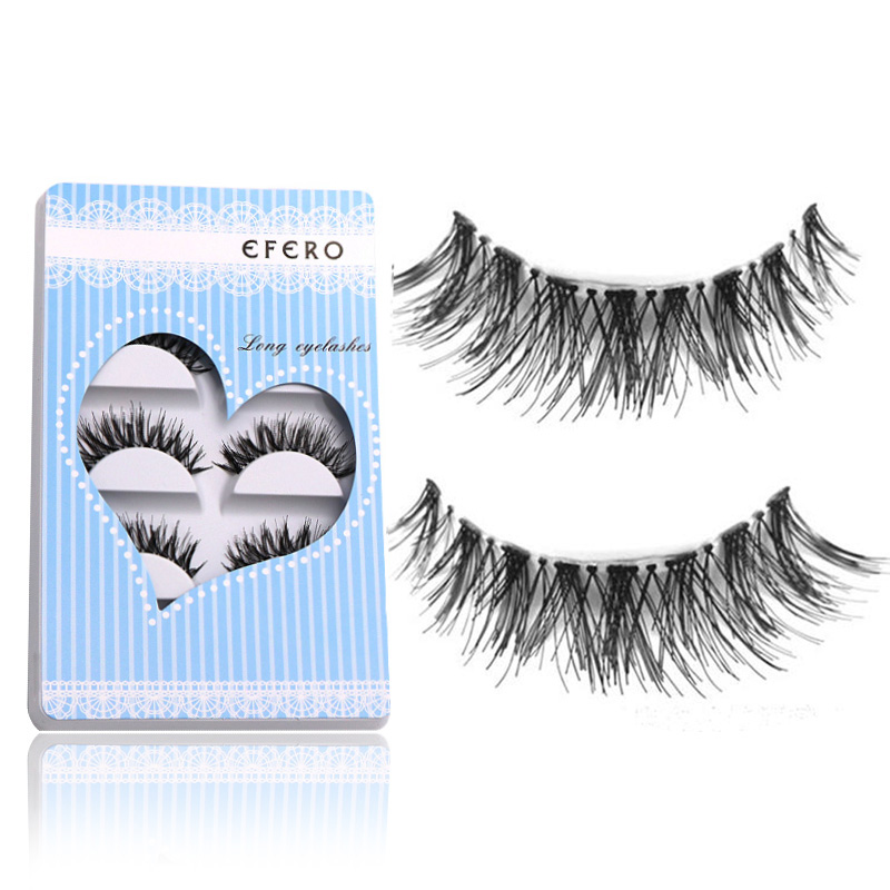 5 Pair EFERO Messy False Eyelashes For Women Makeup Long Eyelashes For Building Cross False Eyelash Extensions Tools Fake Lashes ...