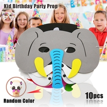 10Pcs Funny EVA Children Animal Masks Kids Woodland Farm Dress Prop Birthday Party Decoration