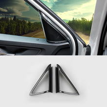 Fit For Skoda Kodiaq 2017 2018 ABS Carbon fibre Car Car interior A-pillar Speaker horn ring Cover Trim car styling accessories lapetus front pillar a stereo speaker audio sound frame cover trim fit for volvo xc40 2018 2019 2020 abs accessories interior