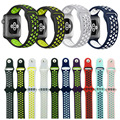 38mm 42mm pulseira para nike série 1:1 original com luz flexível respirável silicone watch strap band para apple watch