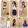 Caja del teléfono para iphone 7 6 6 s más 5 5S sí 6 Más de Moda Cubierta de Compras Vestido de Bebe Chica Suave Silicona Teléfono Móvil bolsa