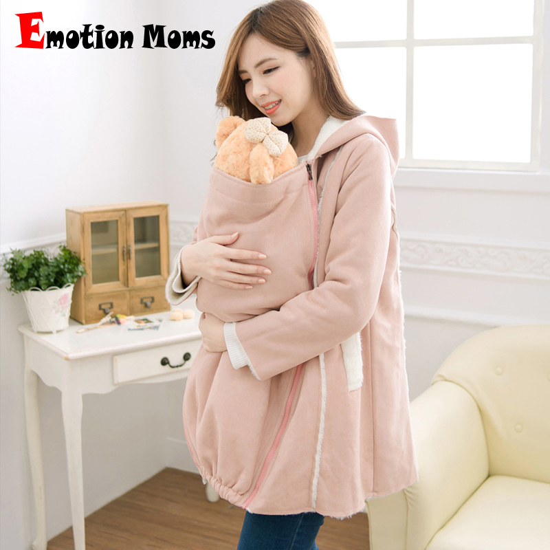 Emotion Moms Winter Maternity Clothes nursing Clothes For Holding For Pregnant Women feeding Jackets 2 in 1 use Maternity Coat