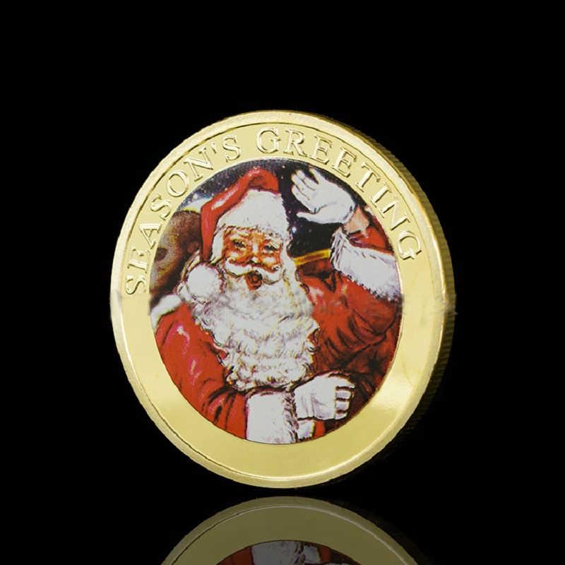 Santa Claus and bells coins unique design packing ancient charm coin sets famous exclusive souvenir coins sex craft