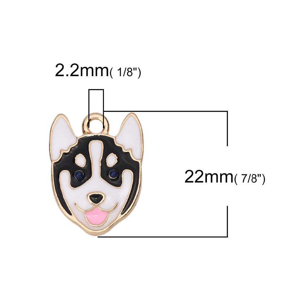 "31mm 1-1//8/"" x 1/"" Paw Print Charm Pendant with Lobster Claw Clasp Cat Dog Bear"
