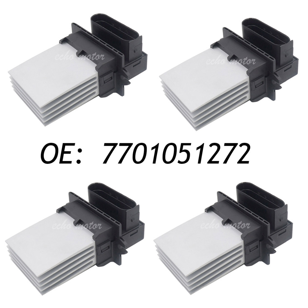 New 4pcs HVAC Heater Blower Resistor Fan Control Module For Renault Clio II 7701051272 509921 GFJDZRN001