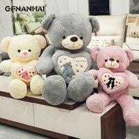 1pc 70/90cm kawaii Embrace bear Plush toy High Quality Huging Heart Teddy Bear Pillow Stuffed Animal Toys for Girlfriend Gift