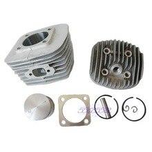 47 мм Двигатели для автомобиля Головки цилиндров для автомобиля поршень комплект для 80cc газа моторизованный велосипед