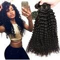 7A Boa Mongolian Kinky Curly Virgem Cabelo 3 Bundles Não Transformados Cabelo Mongol Afro Crespo Encaracolado Virgem Cabelo Humano Weave Bundles